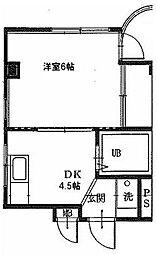 コーポラス原口[3階]の間取り