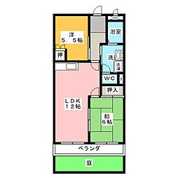愛知県名古屋市緑区滝ノ水4丁目の賃貸アパートの間取り