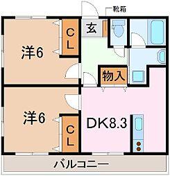 TNマンションIII[301号室]の間取り
