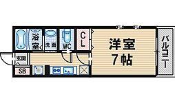 大阪府豊中市曽根東町5丁目の賃貸アパートの間取り