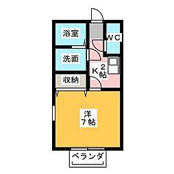 プリシェール小木田[1階]の間取り