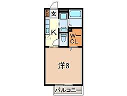 静岡県沼津市西間門の賃貸アパートの間取り