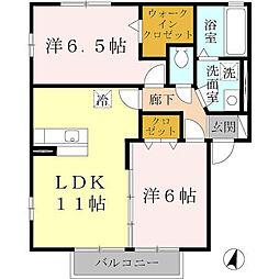 パストラル福田B棟[2階]の間取り