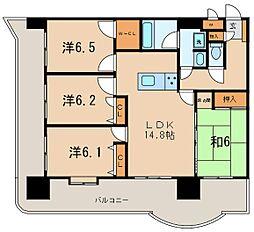 ライオンズマンション六ッ門第2[9階]の間取り