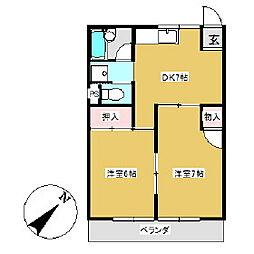 ニュー幸田プラザ[4C号室]の間取り