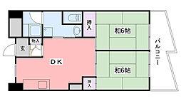 兵庫県西宮市高須町1丁目の賃貸マンションの間取り
