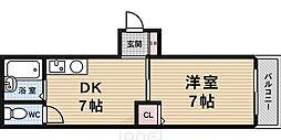 ラフィーネ四条堀川[6階]の間取り