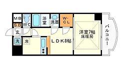 ノルデンタワー新大阪アネックス A棟[4階]の間取り
