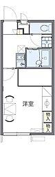 JR武蔵野線 東所沢駅 バス25分 中富南下車 徒歩7分の賃貸アパート 1階1Kの間取り