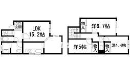 [テラスハウス] 兵庫県川西市久代2丁目 の賃貸【/】の間取り