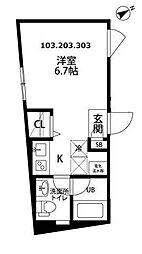 プラティーク高井戸[2階]の間取り