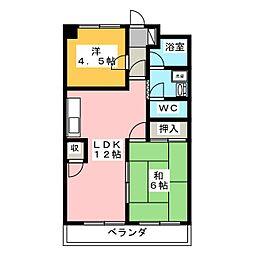 藤和レジデンス[3階]の間取り