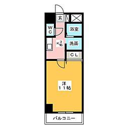 コートモーリス新道[5階]の間取り