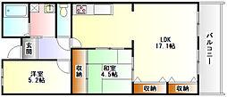 メゾンサスティック[2階]の間取り
