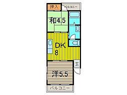 中島ハイツ[1階]の間取り