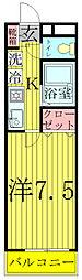 千葉県柏市旭町1丁目の賃貸マンションの間取り