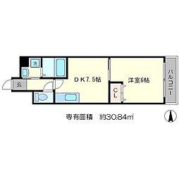 スールシャンブル[4階]の間取り