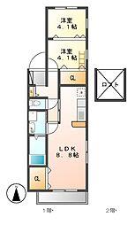 グレイスベアハイツ[2階]の間取り