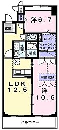 コミュノーテ 半右衛門[04060号室]の間取り