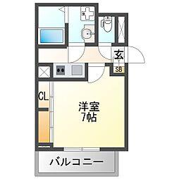 阪急神戸本線 神崎川駅 徒歩2分の賃貸アパート 1階1Kの間取り