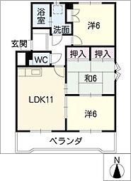 レジデンス95[3階]の間取り