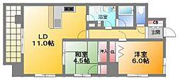 アーデン上本町[2階]の間取り