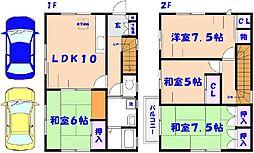 [一戸建] 千葉県市川市中国分2丁目 の賃貸【/】の間取り