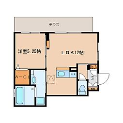 奈良県大和高田市礒野新町の賃貸アパートの間取り