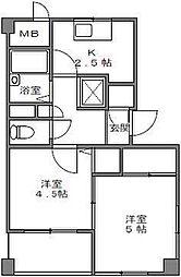 ベルズコート浜松[4階]の間取り