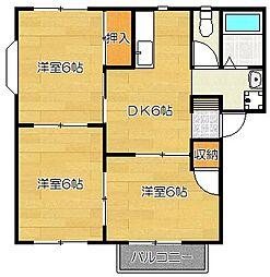 エスペランサ筑紫野[2階]の間取り