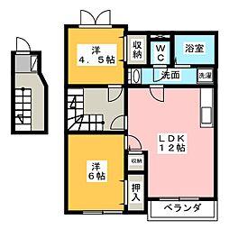 リセスガーデン2[2階]の間取り