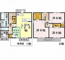 [テラスハウス] 兵庫県神戸市西区玉津町二ツ屋2丁目 の賃貸【/】の間取り