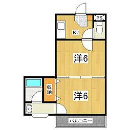 シティハイツ山科[3階]の間取り