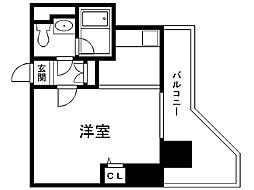 レジディア札幌駅前 6階ワンルームの間取り