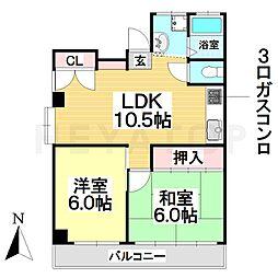 愛知県名古屋市南区加福本通1丁目の賃貸マンションの間取り