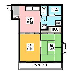 高崎マンション[5階]の間取り