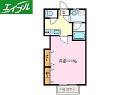 近鉄山田線 伊勢市駅 徒歩9分の賃貸アパート 2階1Kの間取り