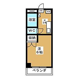 ハイコート白萩[2階]の間取り