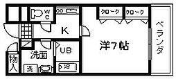 大阪府岸和田市加守町4丁目の賃貸マンションの間取り