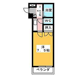 大嶽弥富マンシヨン[3階]の間取り