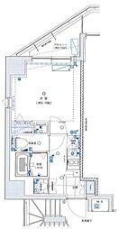 グランリーヴェル横濱プルミエ 5階1Kの間取り