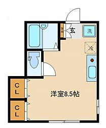 東京都渋谷区代々木5丁目の賃貸アパートの間取り