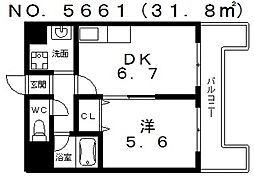 ラベリテ21[7階]の間取り