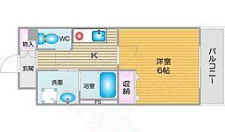 南海線 天下茶屋駅 徒歩8分の賃貸マンション 4階1Kの間取り