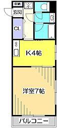 CHAFER西国分寺[3階]の間取り