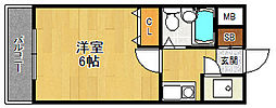 ロイヤルメゾン西宮北口ガーデン[105号室]の間取り
