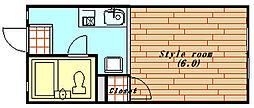 ラ・スールシライ[103号室]の間取り