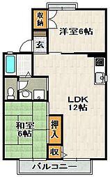 セジュール安倉[B106号室]の間取り