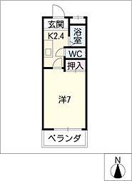 ラセールミス II[2階]の間取り