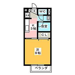 エクセルハイムA[1階]の間取り